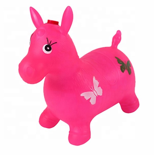 Wholesale Eco-friendly PVC bouncing hopper for child jumping animal toy jumping horse