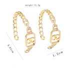 Earrings Gold Earrings Channel Earrings New Designer Imitates Gold Plated Diamond Hollow Earrings For Women CC EARRINGS