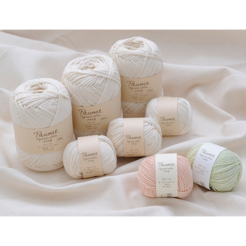 Japan import low price crochet knitting 100% organic cotton yarns