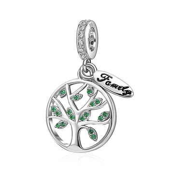 Wholesale Jewellery Family Tree Beads 925 Sterling Silver Tree of Life Charms For Bracelet