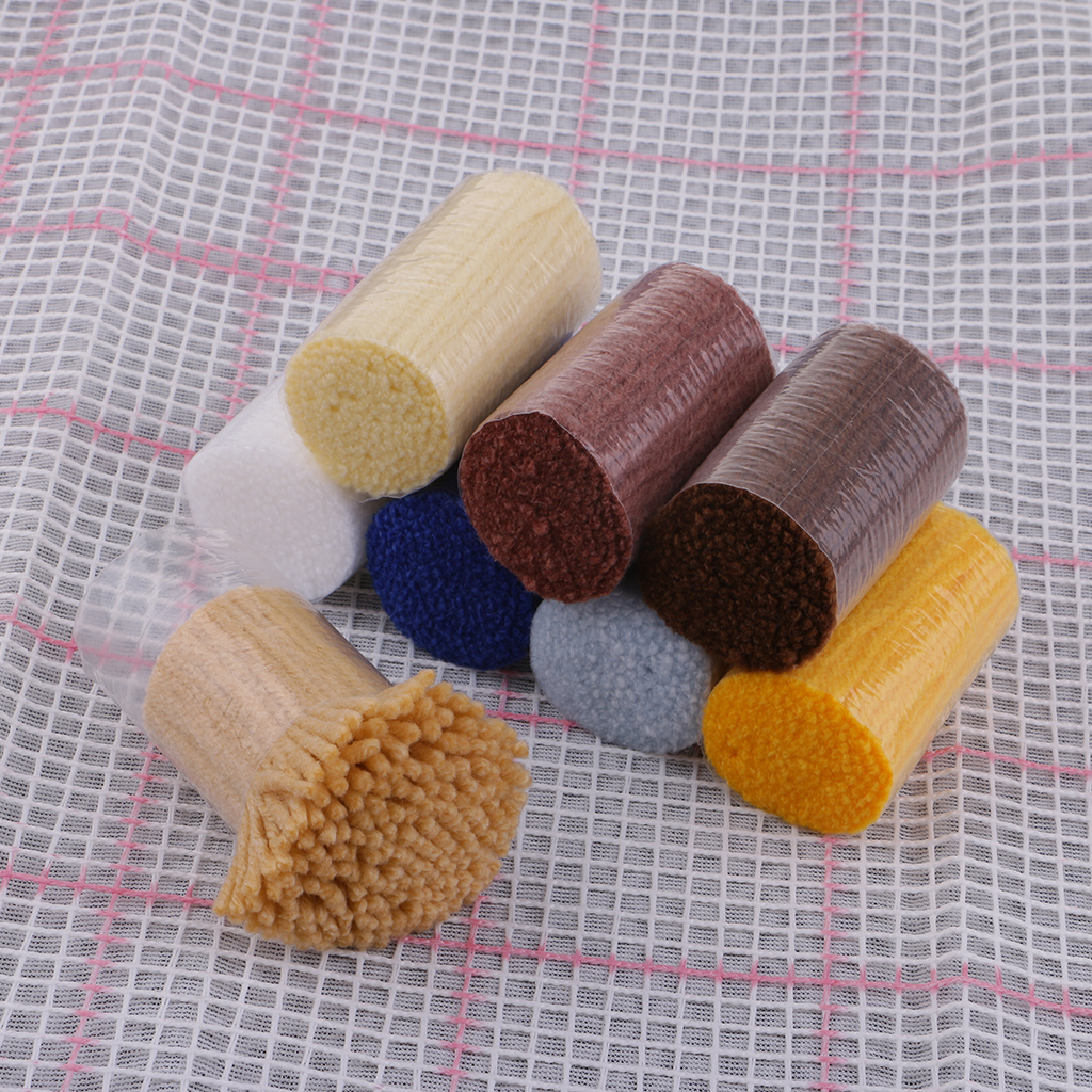 Latch Hook Rug Kit for Carpet Cushion Embroidery Crochet, Handmade Winter Gifts