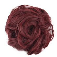 Короткие парики, натуральные, как человеческие, вьющиеся, запутанные, пучки волос, кусок, резинки, искусственные волосы, инструмент для нара...(Китай)