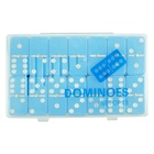 High Quality Dominoes Double 6 Domino Piece With Blue Color Of Domino Tiles in Plastic Box