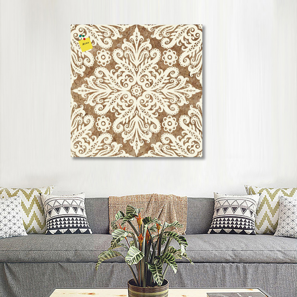 Beautiful Cork Board Flora Shapes Deco Wall Sticker Wood Art