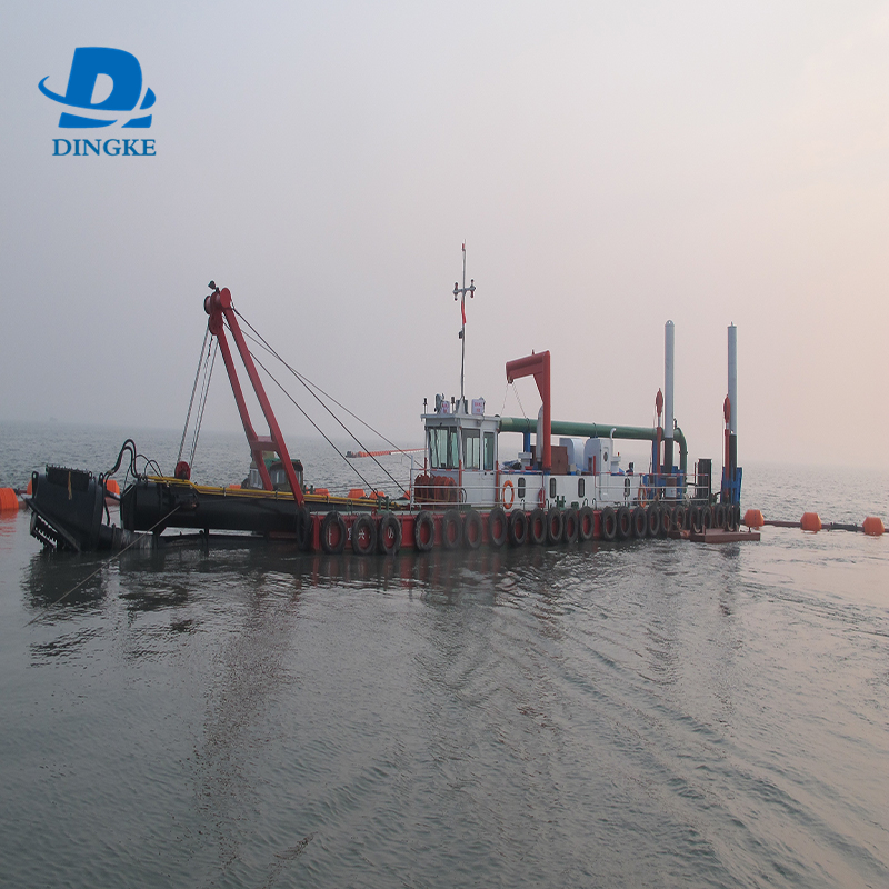 DINGKE горячие новые маленькие 350 1000m3 фрезерный свайно-папильонажный земснаряд с речного песка земснаряд, производство Китай