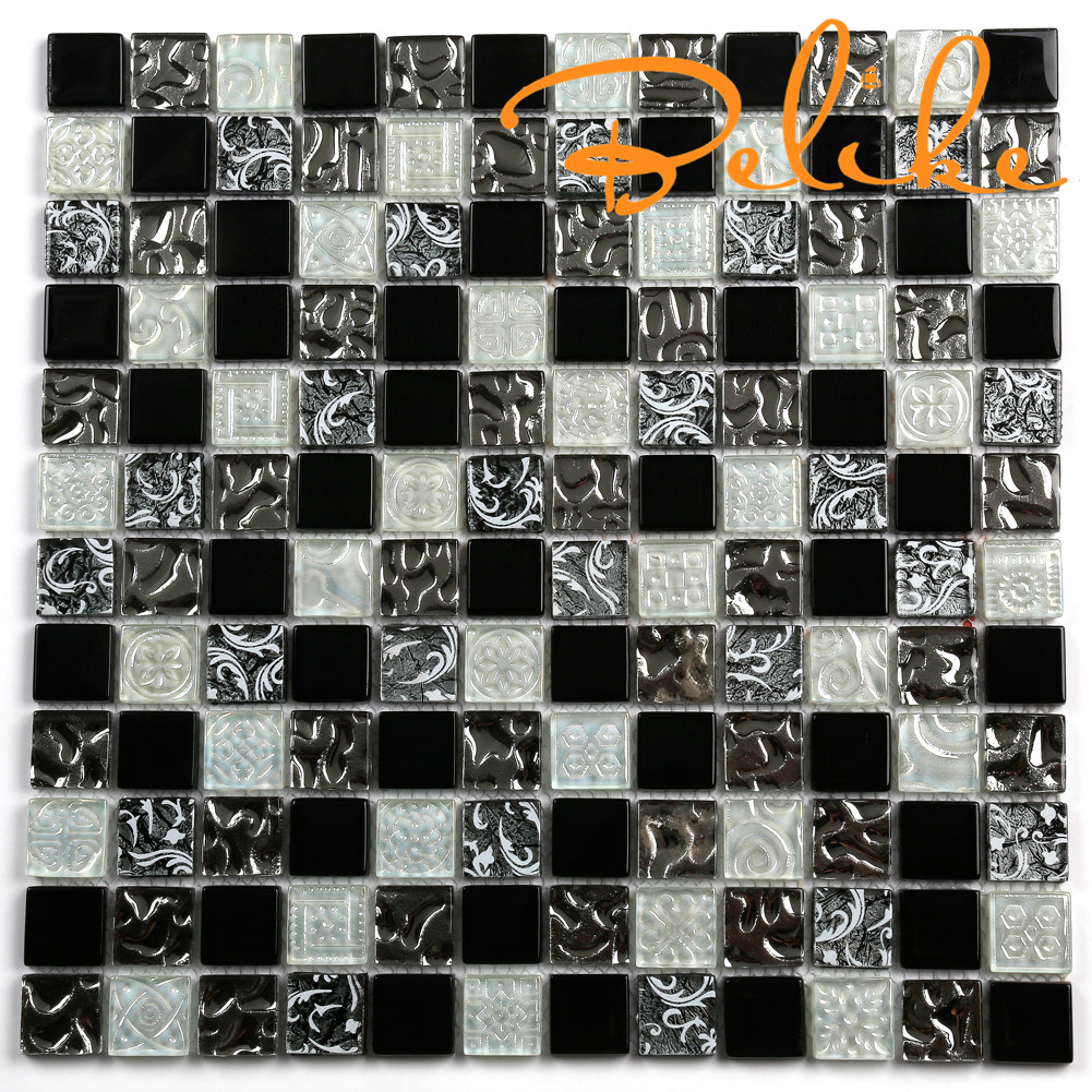 Glass Mosaic Tile Vintage Arabesque Splendid Blend Backsplash Wall Cladding Featured Wall Home Decor Wall Tile Luxury Design