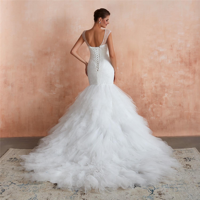 Свадебное платье-Русалка, роскошное свадебное платье в африканском стиле, недорогие свадебные платья, кружевные свадебные платья, 2021