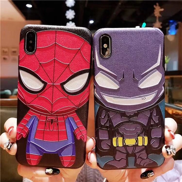 Super Hero Spider-man Case For Iphone 11 Pro X Xs Max Xr 7 8 6 6s Plus 5 5s Se Black Silicone Housing Phone Coque Cover - Buy Super Phone Case,Phone ...