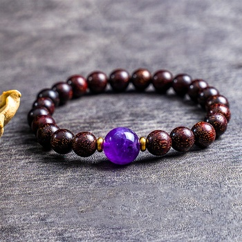 chakra bead bracelet wood Lobular red sandalwood bracelet with beads