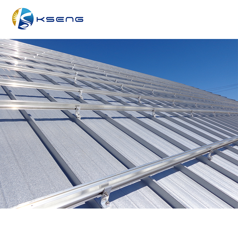 Hot Sell Lockseam corrugated metal sheet roof solar PV panel mounting bracket L feet L foot kit