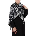 2019 New Arrival Zebra Leopard Pattern Print Scarf Fashion Sexy High Quality Warm Weaved Shawls Scarf For Ladies Women