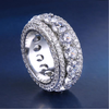 5 Layer White Gold CZ Ring