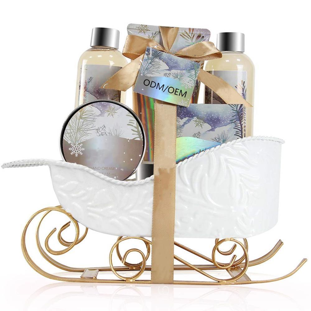 Частная марка оптом с жасминовым и медовым ароматом женский Рождественский подарок Спа Набор