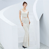 Silver lady evening dress