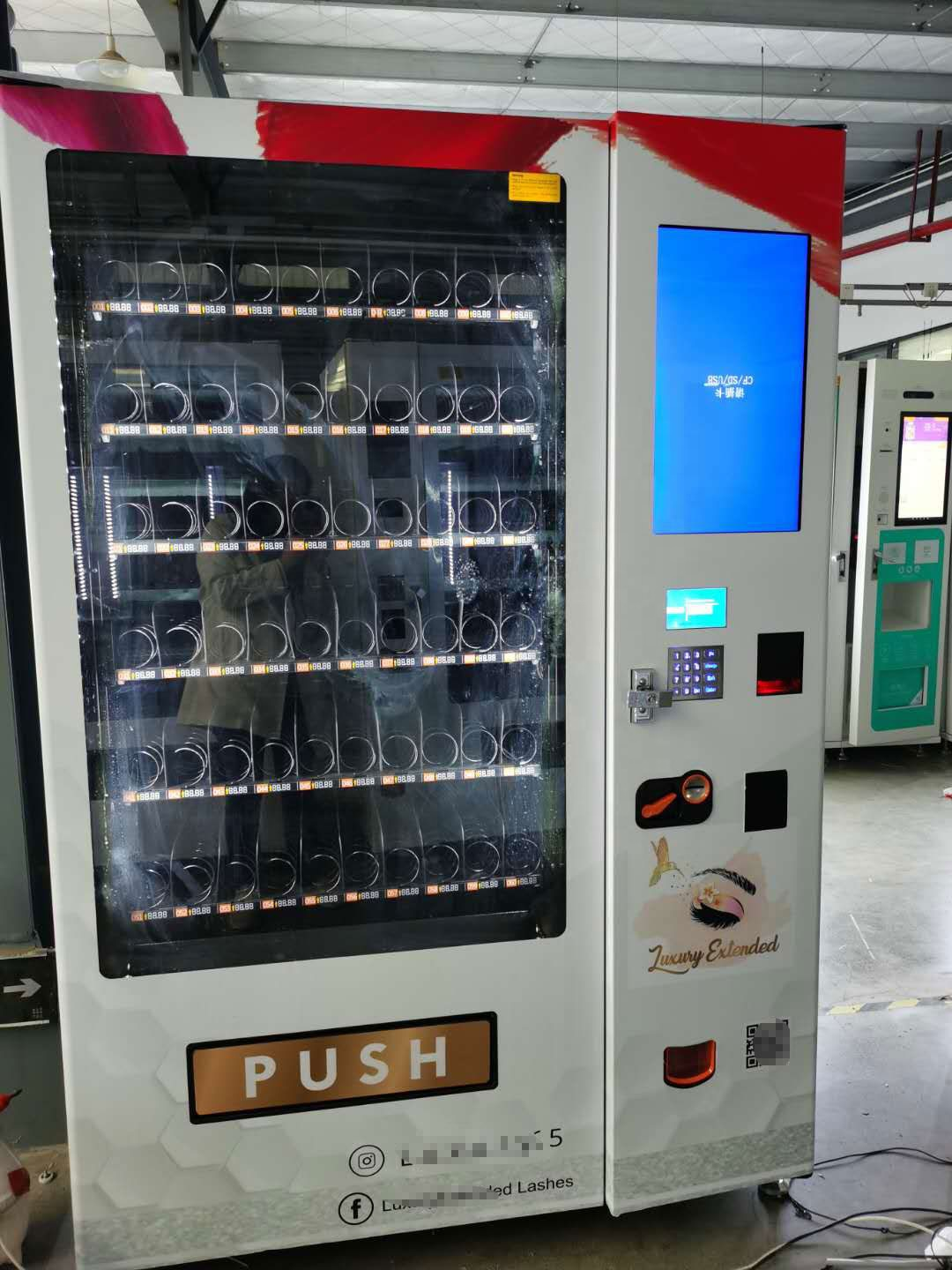 High repeat purchase lash hair beauty vending machine with customized design