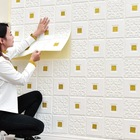 Wall 70*70cm XPE Soft Protective Brick Wall Cladding 3D Foam Wall Sticker