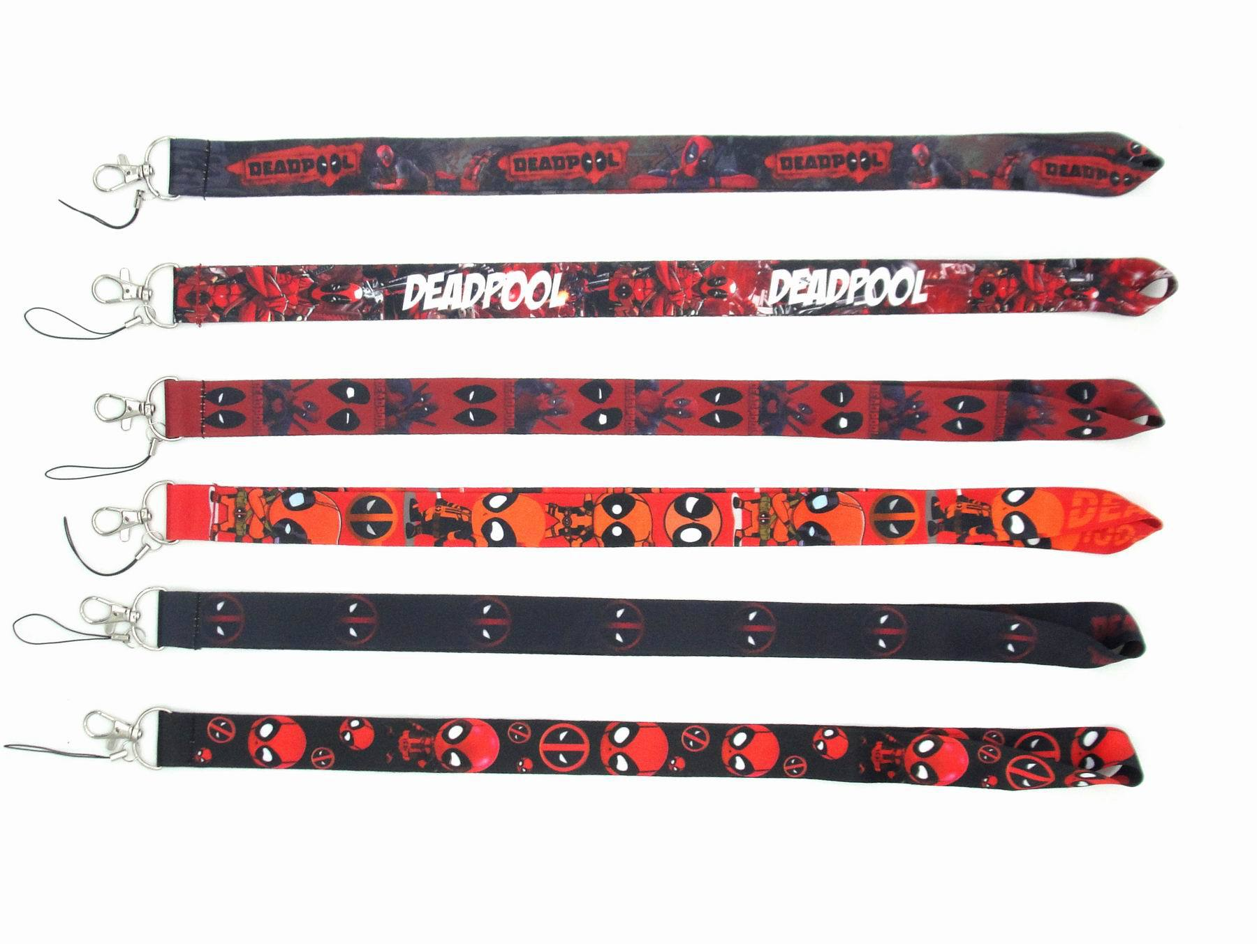 Cute Cartoon Marvel Deadpool Lanyard Hot High Quality Printing Wholesale Lanyards with Logo Phone Card Neck Strap Accessories