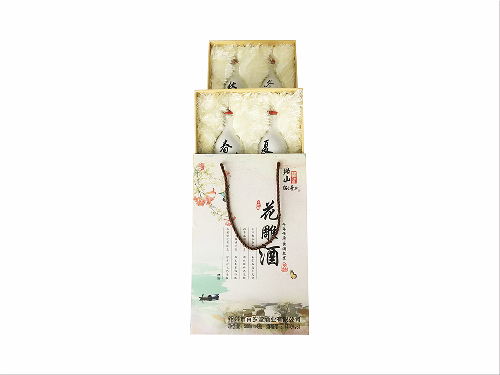 Ancient craftsmanship, high-quality raw materials, ShaoshanJianshui 15-year Huadiao Wine Gift Box