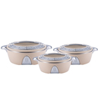 1.5L 2.5L 4L Low MOQ Stainless Steel Hot Pot Luxury Insulated Casserole Food Warmer Container Sets of 3