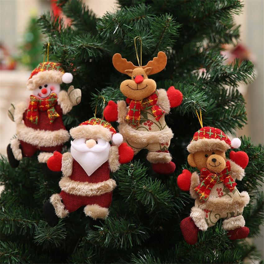 Christmas Figurines Dancing The Elderly Snowman Deer Bear Fabric Even Small Hanging Ornaments Gift Christmas Tree Accessories Buy Cheap Colgantes Y Adornos De Got Colgantes Y Adornos De Gota 2019 Adornos De Feliz