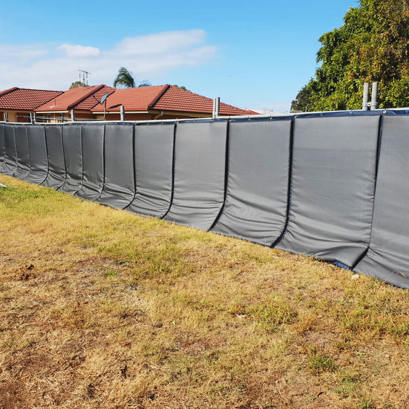 Portable Temporary Fencing Noise Barrier Acoustic blankets Construction Site  sound barrier dampening Factory