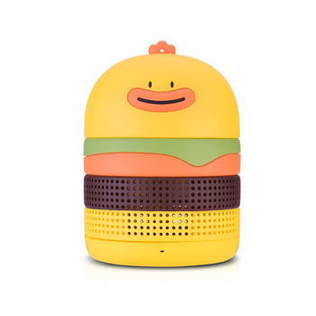 Big sound bass hamburger wireless speaker wireless portable speaker with 1800mah rechargeable battery