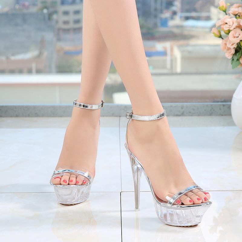 Высококачественные Дышащие стельки PDEP из ПВХ, блестящие туфли на тонком высоком каблуке, прозрачные женские туфли-лодочки на платформе для дам