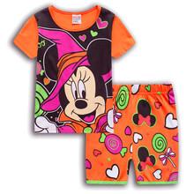Детская одежда с Микки и Минни Маус, лето 2020, комплекты одежды для мальчиков и девочек, спортивные костюмы, хлопковая одежда с Бэтменом(Китай)