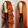 Orange human hair