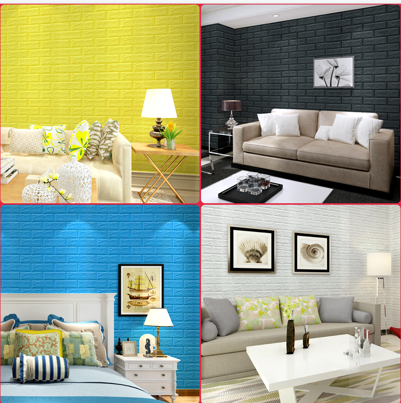 3D FOME PE Wall Tile Easy Self-Adhesive Design Wall Paper Wall Tile Stickers