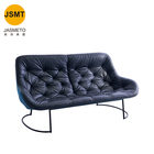 Modern simple office sofa three-person office business reception leisure sofa combination