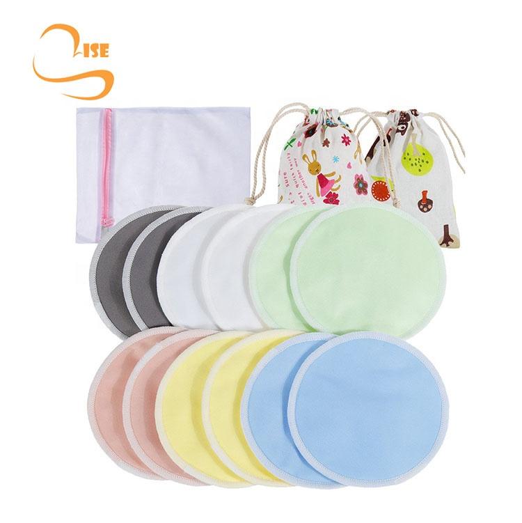 Однотонные мягкие органический хлопок для женщин кормящих колодки с Прачечная сумка и дорожная сумка