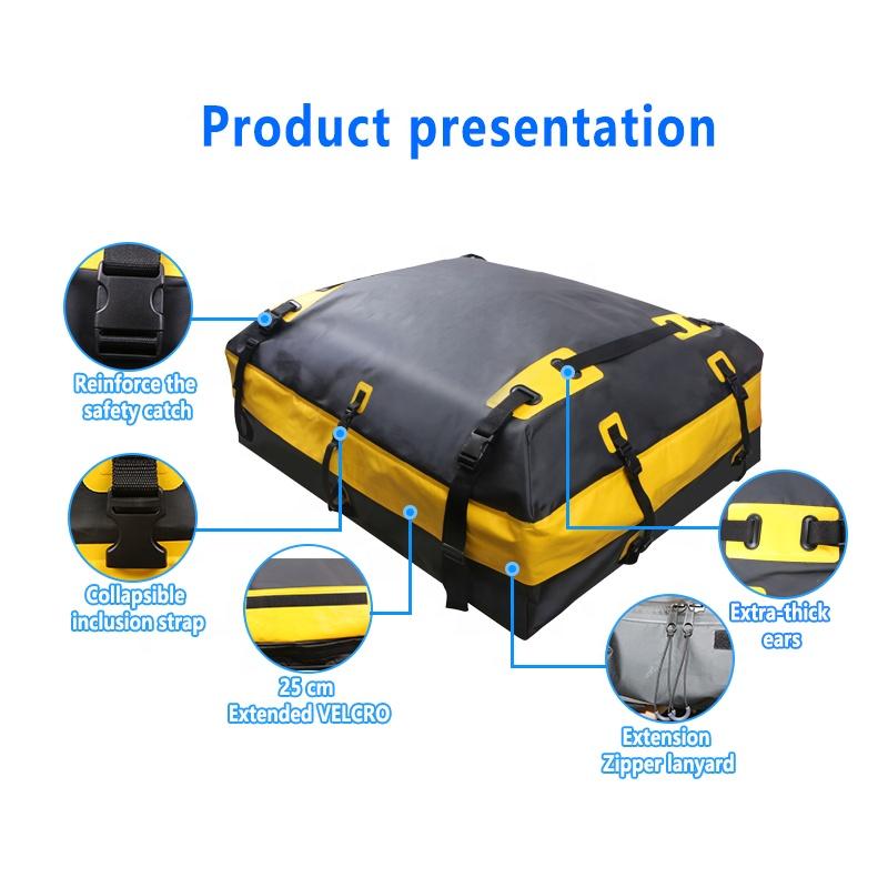Custom Logo OEM Cargo Box Roof Waterproof Luggage Carry Universal Car Roof Cargo Bag