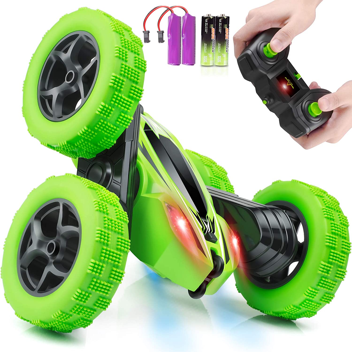 Remote Control Car,Rc Cars Stunt Car Toy,4wd 2.4ghz Double Sided Rotating Rc  Car With Headlights - Buy Rc Cars Product on Alibaba.com
