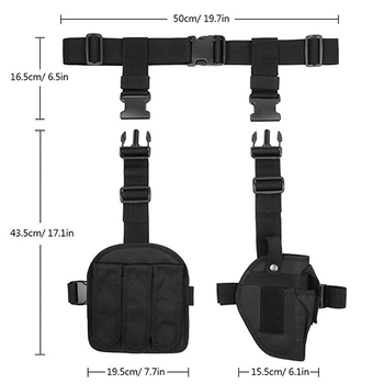 Adjustable Military Thigh Holster Bag Utility Tactical Drop Leg Holster
