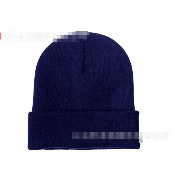 High Quality Winter Plain Beanie Hat 100% Acrylic Warm Knitted Custom Logo Beanies