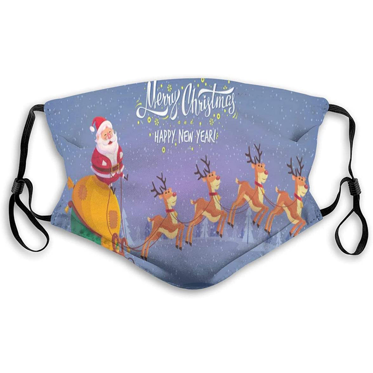 New Design Custom Washable Reusable Dust Filter Merry Christmas Face Mask for Party - KingCare | KingCare.net