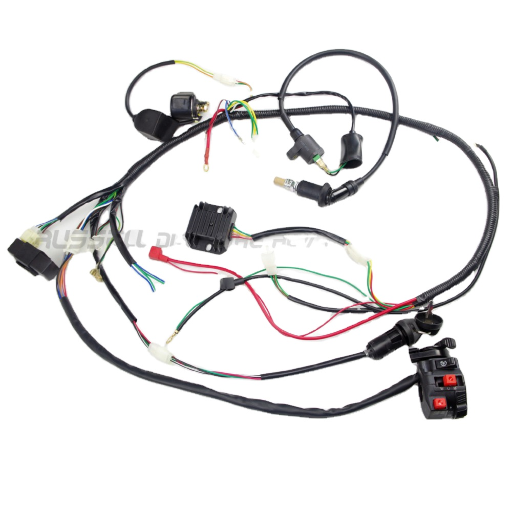 Gy6 150cc Complete Full Wiring Harness Cable Wire Ignition Coil Switch Spark  Plug Cdi Box Unit Rectifier - Buy Switch,Cable Wire Ignition Coil,For Dirt  Bike Engine Product on Alibaba.com   Spark Plug Wiring Harness      Alibaba