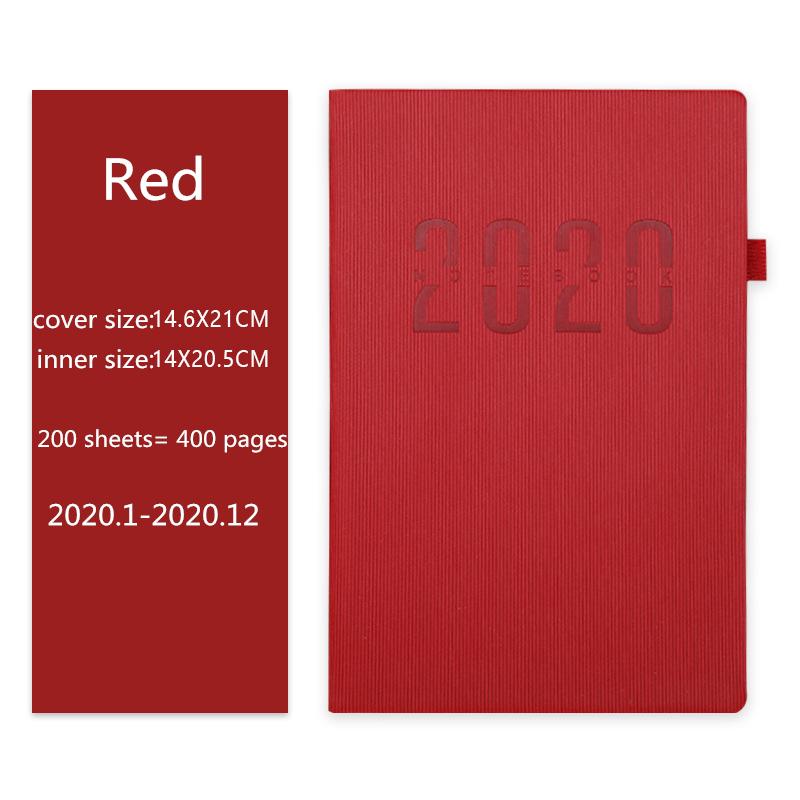 A5 2020 планировщик, ежедневник, годовой календарь, записная книжка, портативный Еженедельный блокнот, руководство, сделай сам, дневник, ежемес...(Китай)
