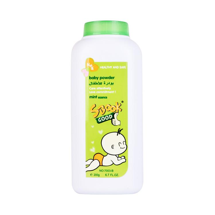 Wholesale Baby Talcum Powder Bathing Care Wholesale 200g OEM Skin Care Sbook Baby Powder
