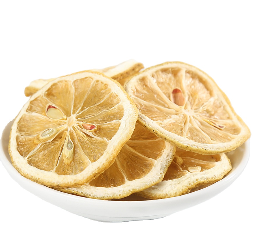 Linherb Supply fruit tea raw material no sulfur Freeze dried limone slice bulk Freeze dried lemon slice with best price