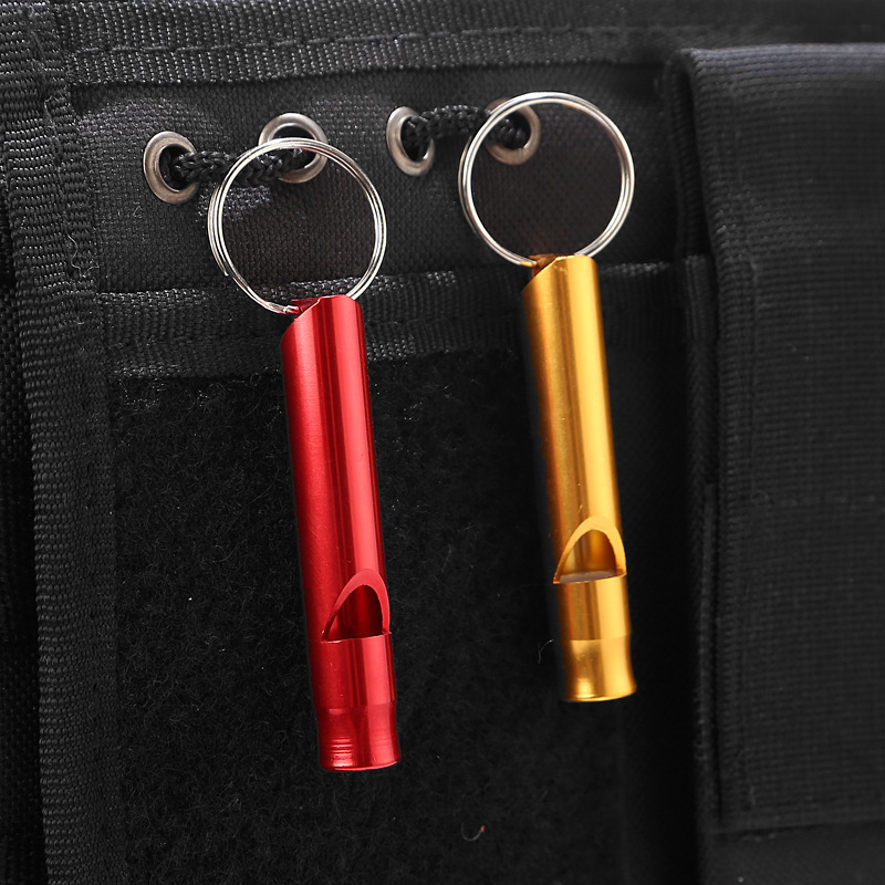 Custom Metal Emergency Whistle Self Defense for Anti Rape Colorful Keychain Whistles for Survival Safety SOS Outdoors Activities