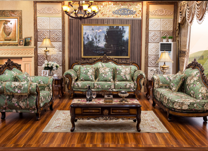 European style carved sofa set home furniture sofa