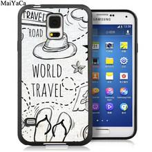 Чехол для телефона MaiYaCa World Tour Just Go с вдохновляющими цитатами для samsung Galaxy S5 S6 S7 edge S8 S9 S10 Plus Lite Note 9 8(Китай)
