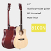41 inch quality basswood guitar black