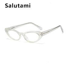 """TR90 маленькая круглая овальная кристальная оправа, прозрачные очки, оправа для женщин, элегантные очки, прозрачные очки """"кошачий глаз"""", красн...(Китай)"""