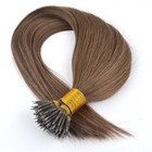 woman hair 16-24 Nano Ring Tip virgin remy Human Hair Extensions keratin micro loop hair extensions