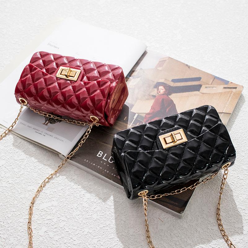 2021 Fashion women jelly purse bags women hand bags ladies shoulder kids single cross-body bag