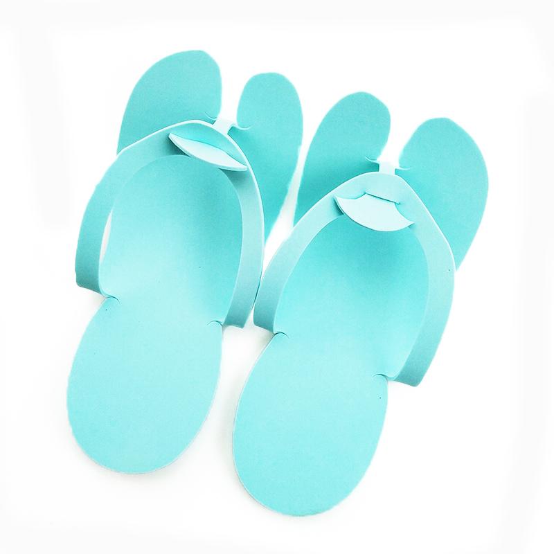 Hot sale custom logo disposable pedicure eva hotel slipper for nail beauty salon