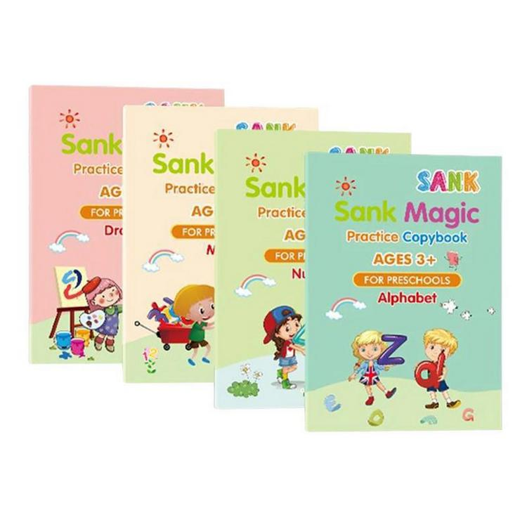 Sank Magic Practice Copybook Wipe-free Childrens Copybook Writing Coloring And Learning Alphabet Practice Handwriting And Printing Workbook